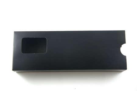 box design: Package black box design Stock Photo
