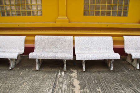 hause: old of marble stone benches Stock Photo