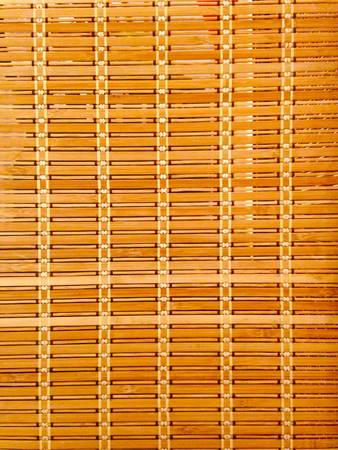 traditional textured: Bamboo brown straw mat Stock Photo