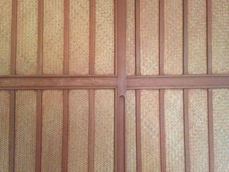 closeup: Bamboo brown straw mat