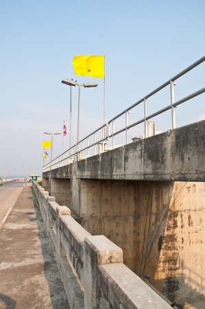The Pa sak chonlasit Dam, Chainat, Thailand photo