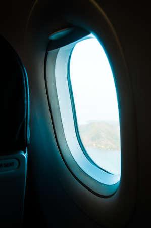 window view: Plane Window View Stock Photo
