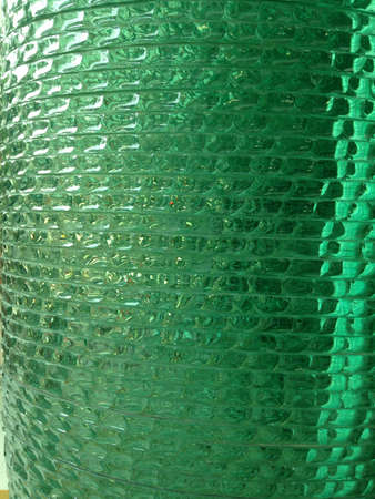 interior: Green crystal and wallpaper