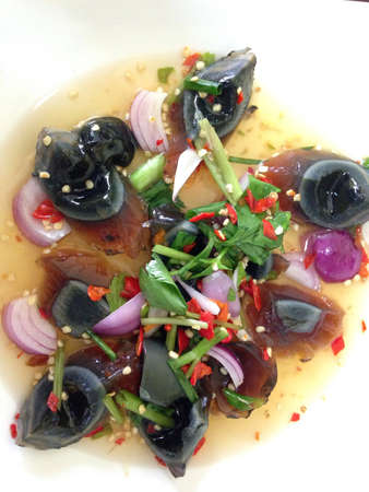 preserved: Preserved egg spicy salad