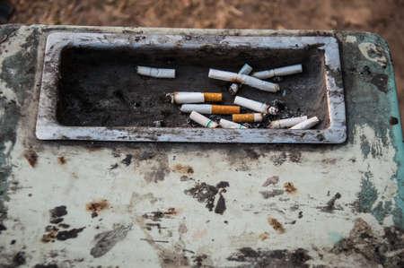 ashtray: Old ashtray on the park