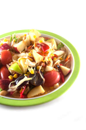 Mixed fruit spicy salad, Thai style photo