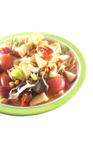 fruit and vegetable salad dish, spicy fruit salad photo