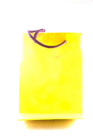 yelow: Yelow shop bags on white background