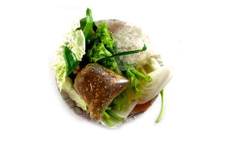 vermicelli: Boiled thai rice vermicelli and fresh vegetable