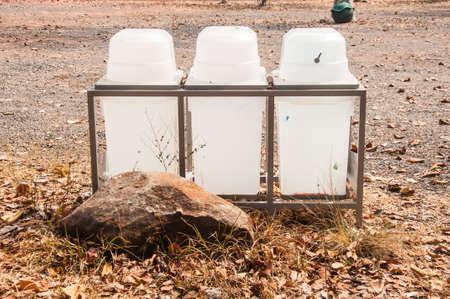 bins: recycling and garbage bins