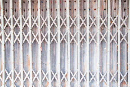 steel door: old gray steel door
