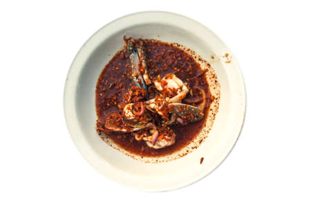 poo: Famous Thai food, Yum poo ma spicy salad with fresh horse crab Stock Photo