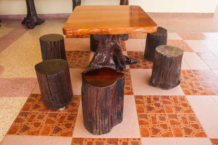 stools: wooden stools chairs in restaurant
