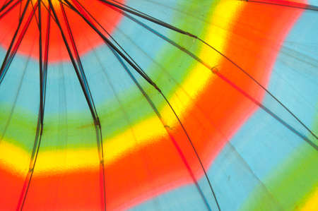 the sun and shade: Awning sun shade,Colorful fabric texture of umbrella for background