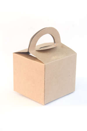 casing paper: Brown paper food box packaging with handle