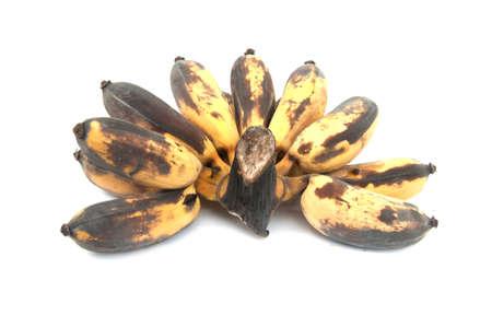 bruised: Bruised Banana on white background