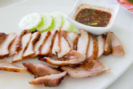 chilli sauce: Grilled pork with Thai-styled chilli sauce