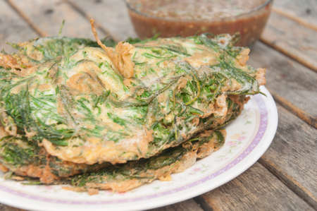 cha om: omelet with vegetables,Climbing Wattle,Thai food