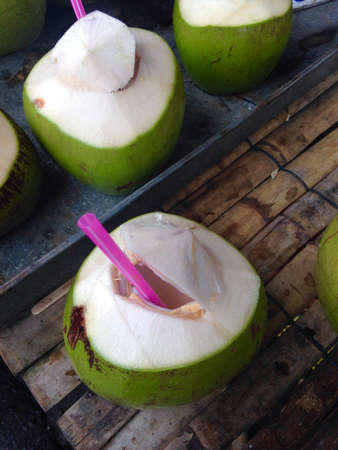coconut fruit: Fresh coconut drink