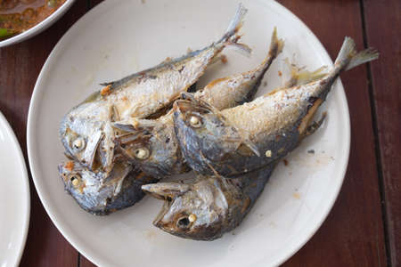 deep fry: Mackerel deep fry (Thai food)