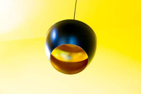 hanging lamp: hanging lamp on yellow background