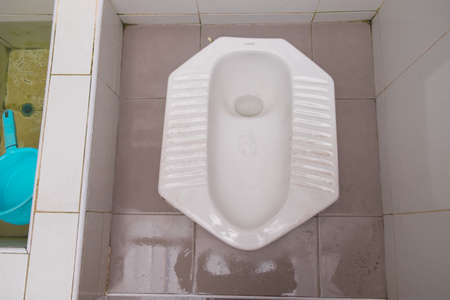 latrine: toilet in countryside of Thailand