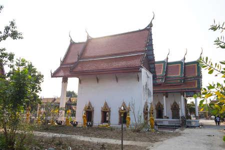 elaborate: Thai Buddhist Temple : Wat King Kaew ,Samutparkarn Thailand Stock Photo