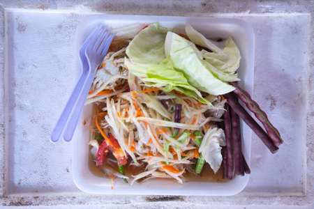 somtum: Thailand North-Eastern Food, somtum Stock Photo