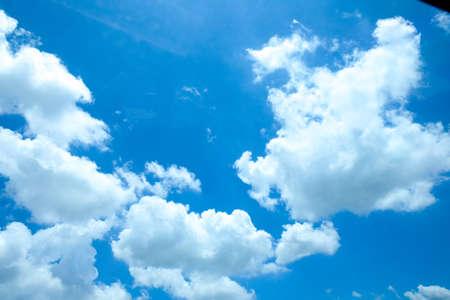 blauer Himmel mit Wolke Nahaufnahme, Hintergrund
