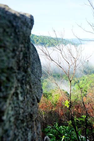 Mountain and Beautiful fog at Chong yen, Kamphaeng Phet, Nation park,Thailand