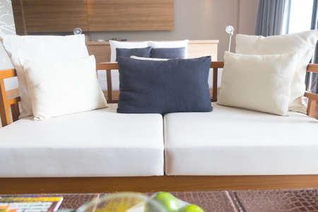 white sofa: beautiful of living room with white sofa