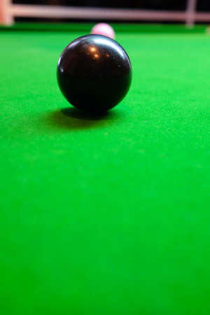 snooker ball on the table, selective focus Stock Photo