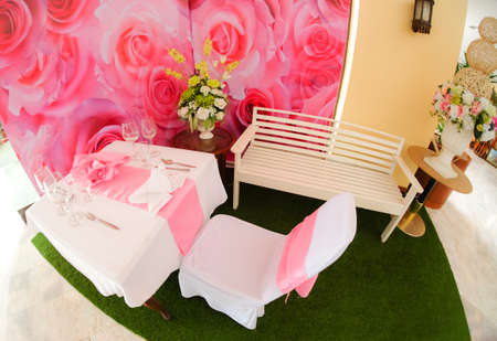 formal dinner: Formal dinner service as at a wedding, banquet