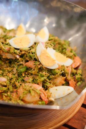 Yum betel nuts on plate Thai food. Stock Photo