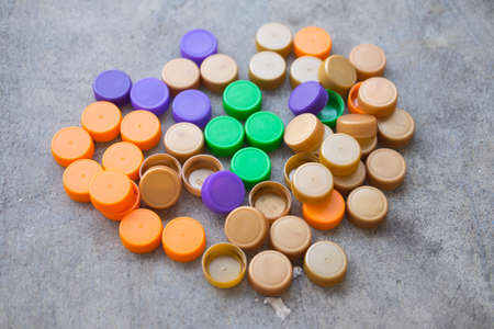 vividly: Plastic bottle screw caps use for inspiring recycled or up-cycled arts and crafts projects