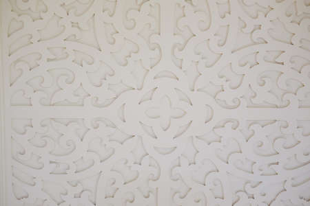 wood panel: Pattern of flower carved on wood for decoration in home