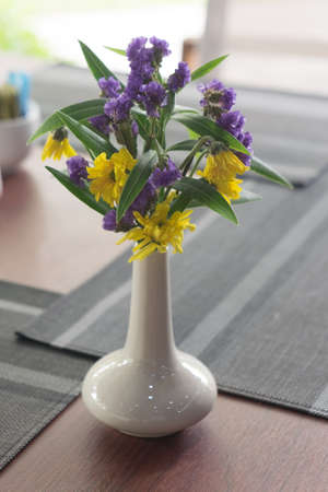 Flower table decorations for holidays and wedding dinner
