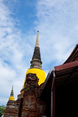 Wat Yai Chaimongkol Ayutthaya Thailand. ancient, architecture