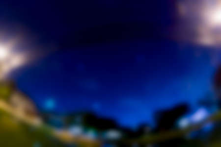 Blur background of blue sky in night
