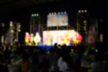 Image of blur background Thai traditional dance Banco de Imagens