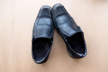 New of leather men shoes Stok Fotoğraf