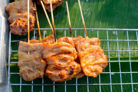 Grilled pork .Thai styled pork BBQ.