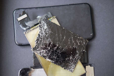 Mobile Smart Phone with cracked screen maintenance, phone