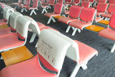 Priority seat at Don Mueang International Airport Thailand 写真素材