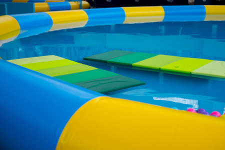 The water playground, pool for the smallest.