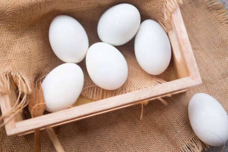 Group of salted duck egg preserved food made by soaking duck eggs Stockfoto