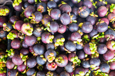 Mangosteen is a queen of fruit in Thailand and asia fruit have a sweet can buy at Thai street food and fruit market