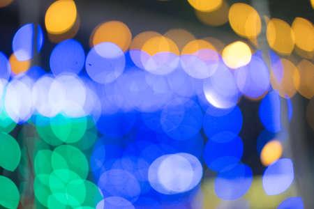 Colorful lights bokeh for background. Colorful Christmas lights
