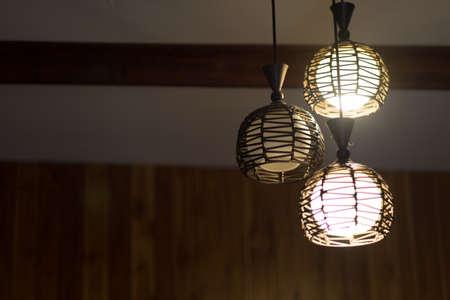 Interior of decorative lighting decor bulb. Select focus Stock Photo
