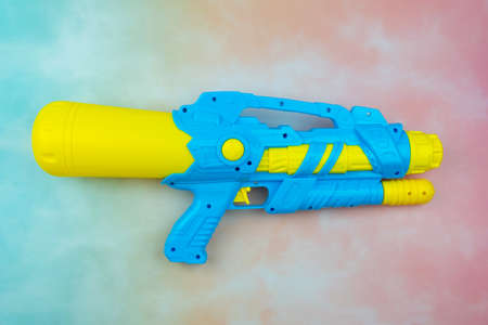 Plastic water gun Songkran festival in Thailand Stock Photo